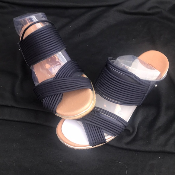 UGG Shoes - Women's UGG HILARIE WEDGE BLUE #7